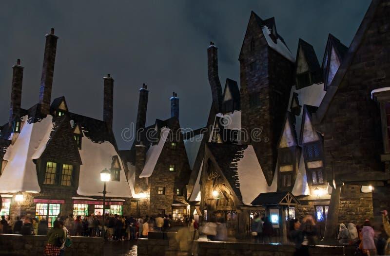 Rekonstruktion von Hogsmeade-Dorf in Universal Studios Japan lizenzfreies stockfoto