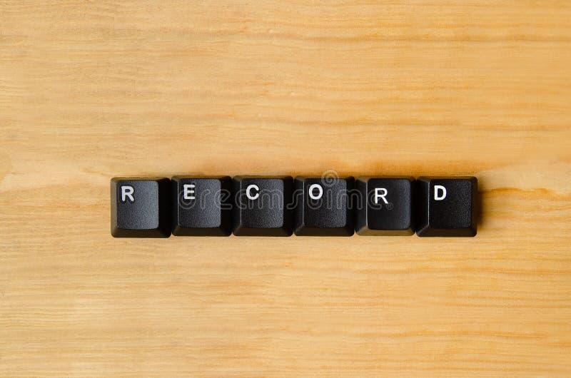 Rekord- ord arkivbilder