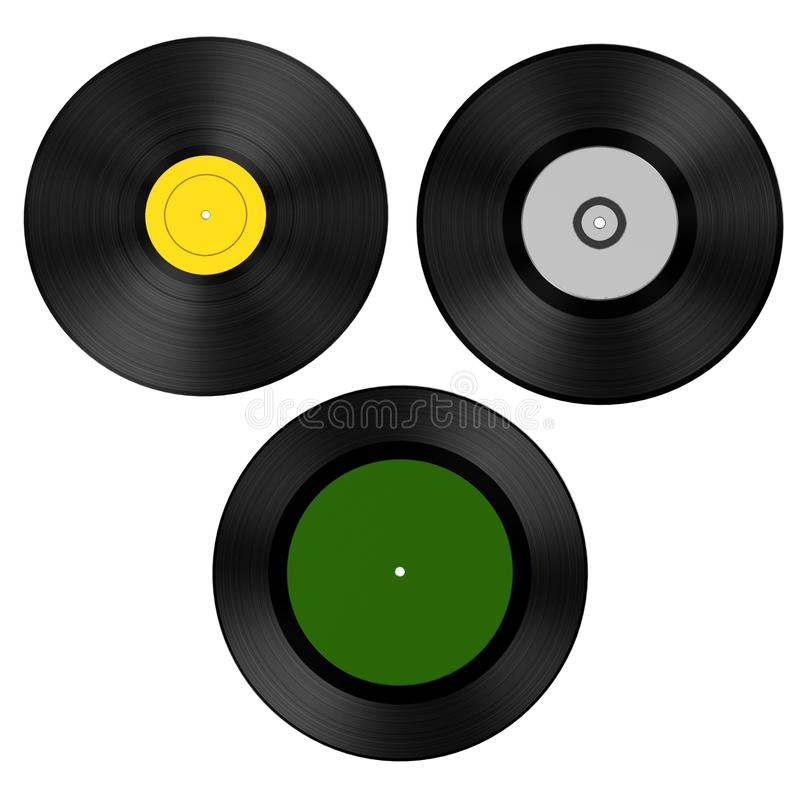 Rekord (vinyl) stock illustrationer