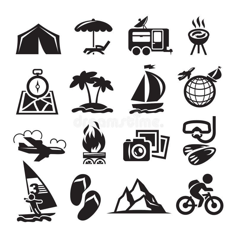 Rekreacyjne ikony. Wektorowa ilustracja ilustracji