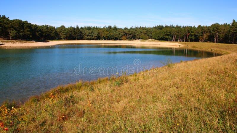 Rekreacyjny jezioro przy Nunspeet w holandiach zdjęcie stock