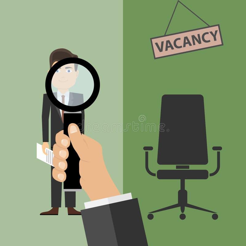 Rekrutacja, bezpłatny wakat royalty ilustracja