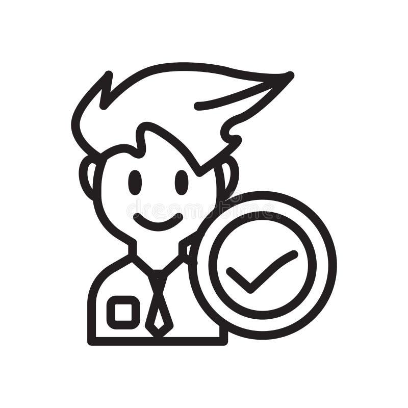 Rekrutacyjny ikona wektor odizolowywający na białym tle, rekrutacja znak royalty ilustracja