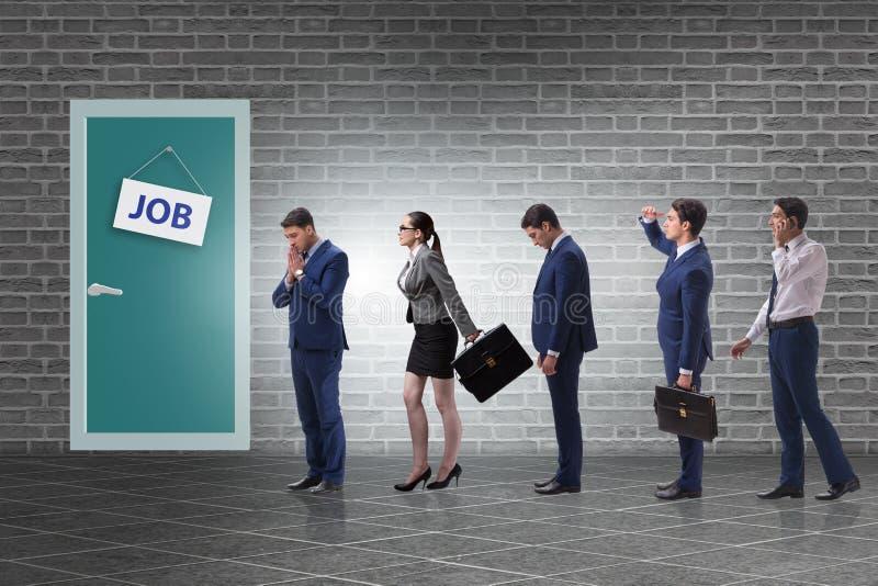 Rekrutacyjny pojęcie z ludzie biznesu zdjęcie stock