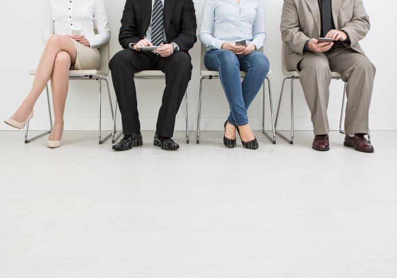 Rekrutering die rekruut het huren huur aanwerven - concepten stock foto's