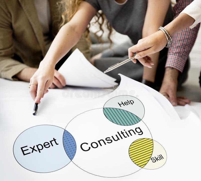 Rekrutering die Venn Diagram Concept raadplegen stock fotografie