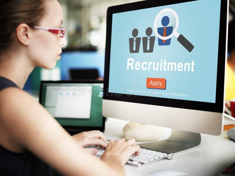 Rekruterings Hurende Arbeidskrachten die Strategieconcept koppensnellen royalty-vrije stock afbeelding