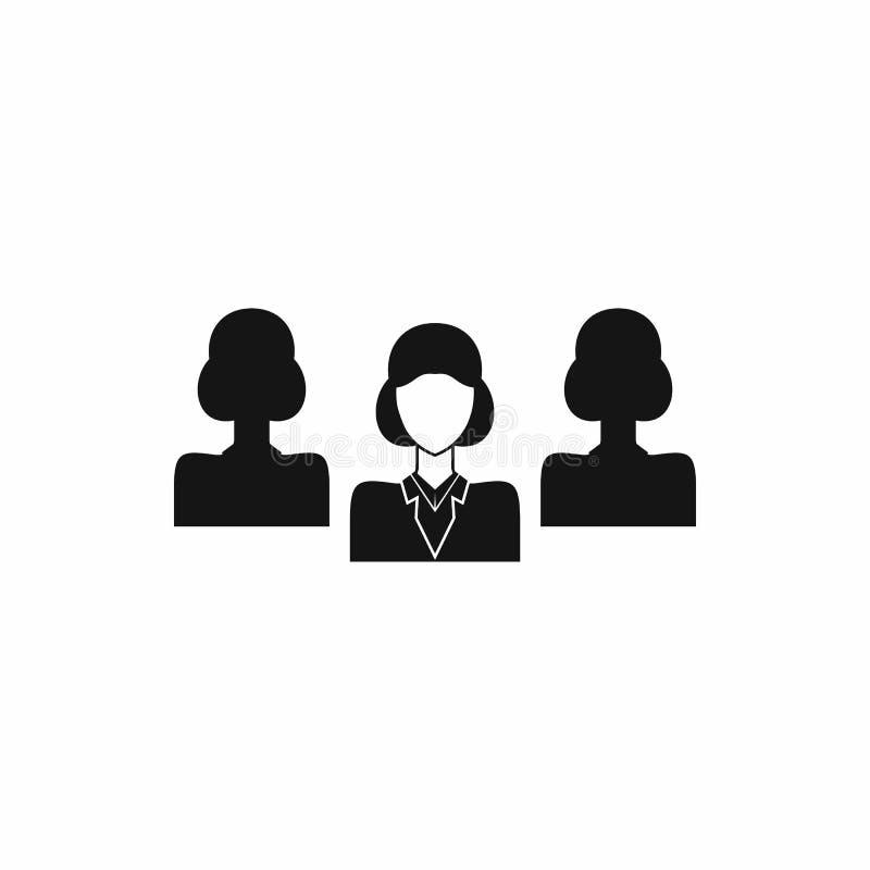 Rekruteringspictogram in eenvoudige stijl royalty-vrije illustratie