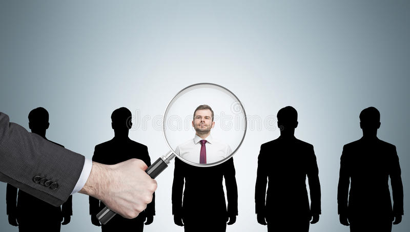 Rekrutierungsprozess lizenzfreies stockfoto