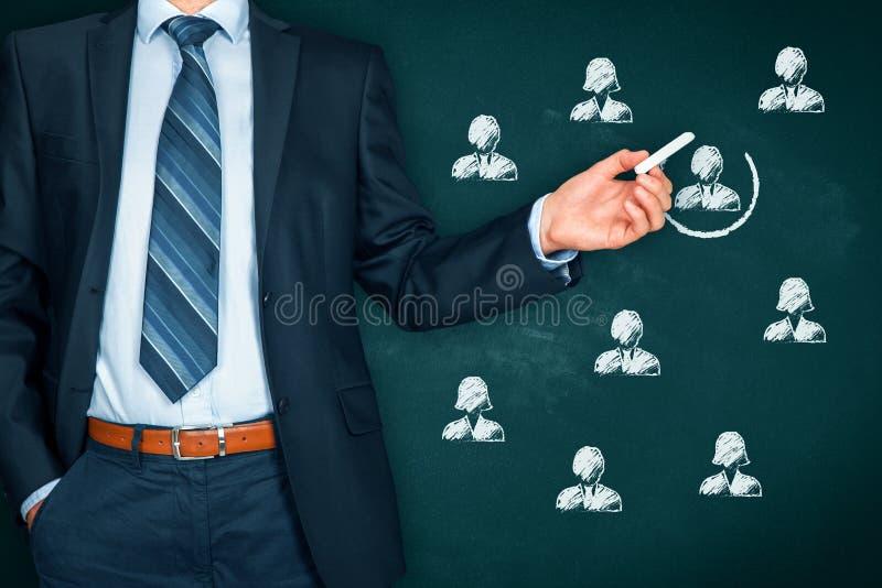 Rekruut en huurpersoneel u royalty-vrije stock foto