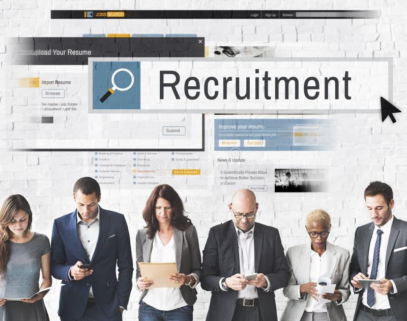 Rekrytering Job Work Vacancy Search Concept royaltyfria bilder