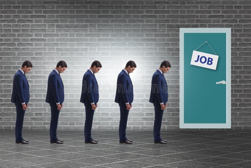 Rekryteringbegrepp med affärsfolk arkivbilder