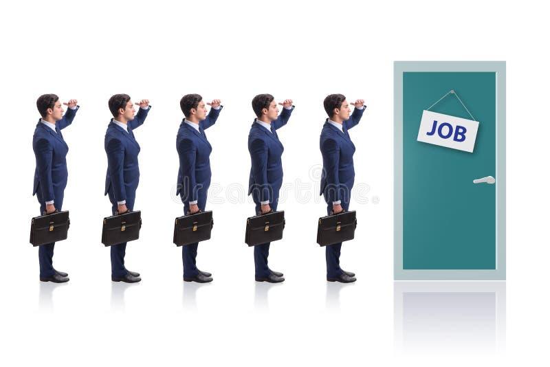 Rekryteringbegrepp med affärsfolk royaltyfria bilder