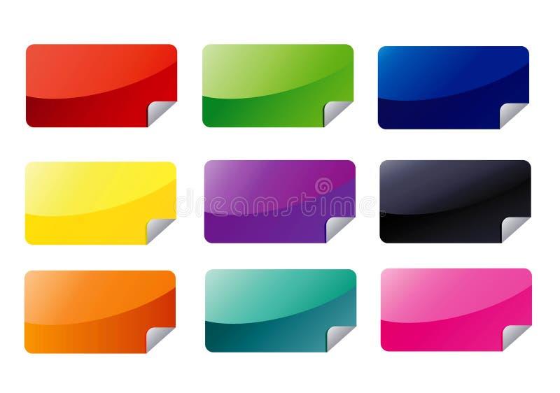rektangeletikettsrengöringsduk stock illustrationer
