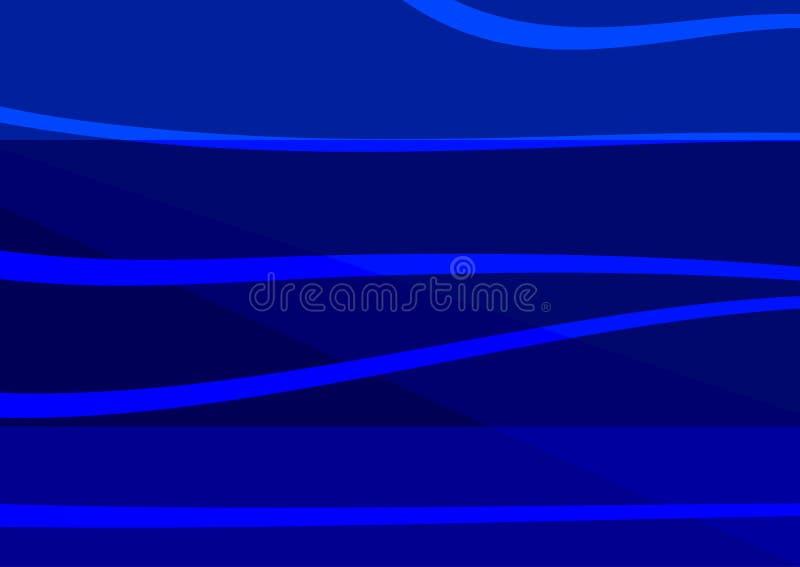 Rektangulär abstrakt blå bakgrund Horisontalmall vektor illustrationer