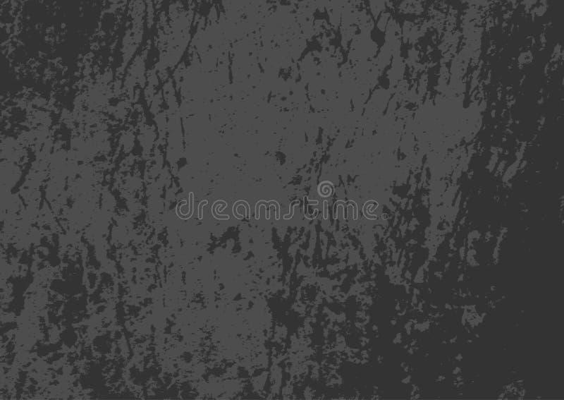 Rektangulär grungetextur Horisontalskrapad mörk bakgrund royaltyfri illustrationer
