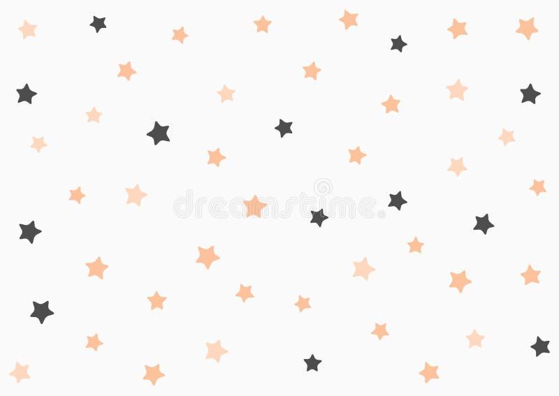Rektangulär horisontalbakgrund med på måfå spridda stjärnor royaltyfri illustrationer