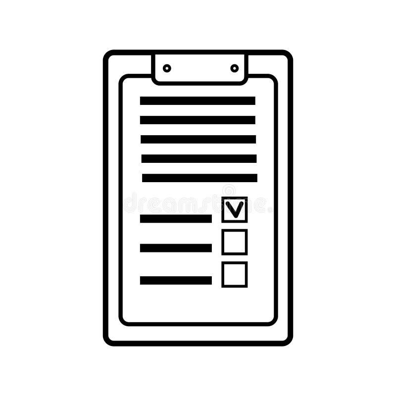 Rektangulär pappers- affärsminnestavla för rekord med ett gem, en medicinsk notepad för recept med en medicinsk historia stock illustrationer