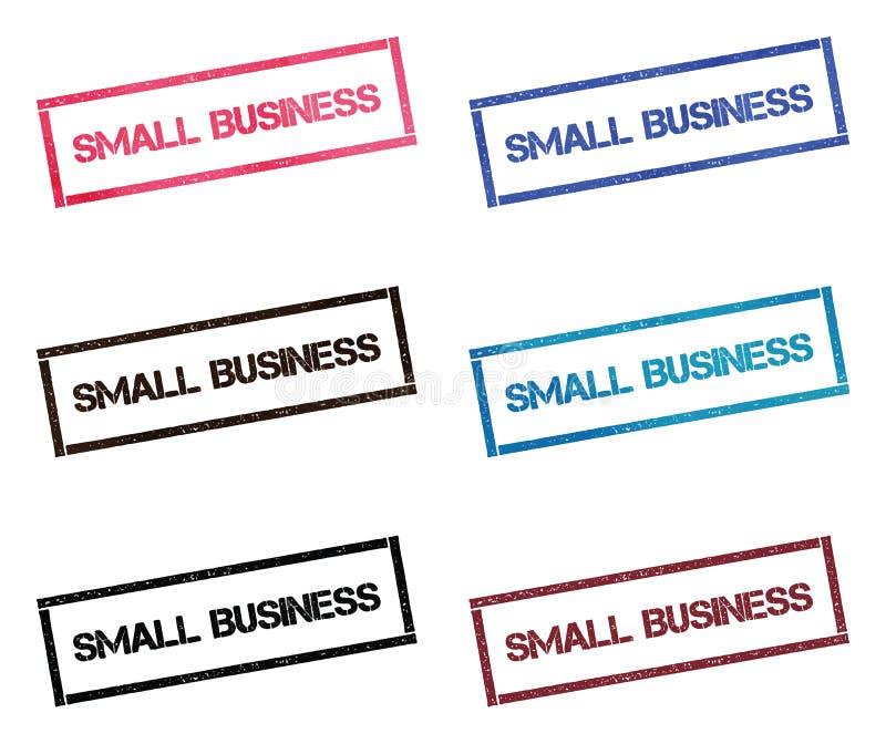 Rektangulär stämpelsamling för små och medelstora företag stock illustrationer