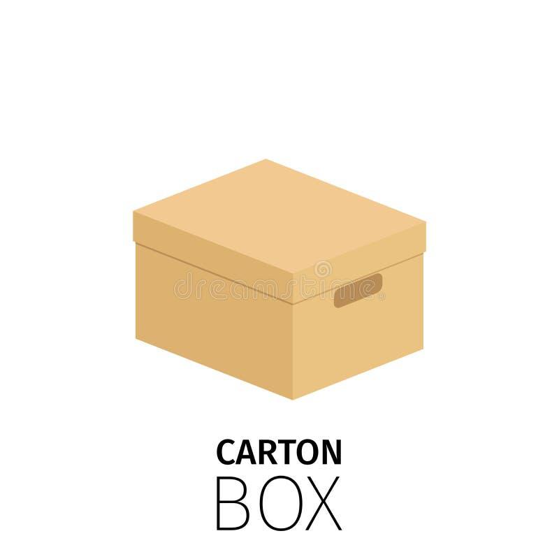 Rektangulär stängd ask för låda vektor illustrationer
