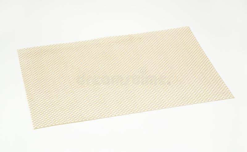 Rektangulär vinylplacemat arkivfoton