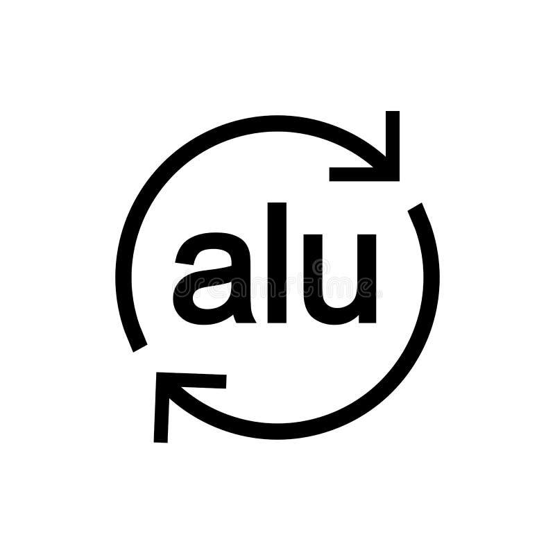 Rekupereerbaar aluminium Vector illustratie Het teken van Eco Vlak Ontwerp vector illustratie