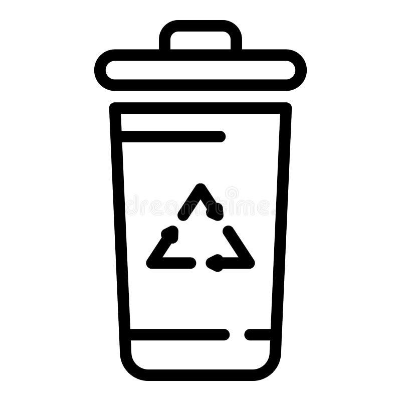 Rekupereerbaar containerpictogram, overzichtsstijl royalty-vrije illustratie