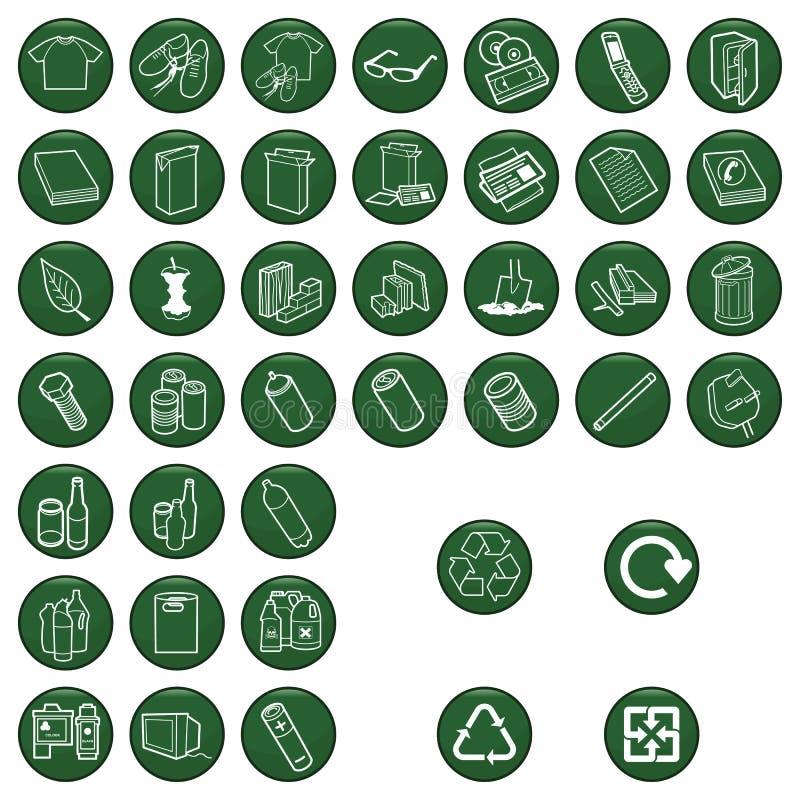 Rekupereerbaar materiaal stock illustratie