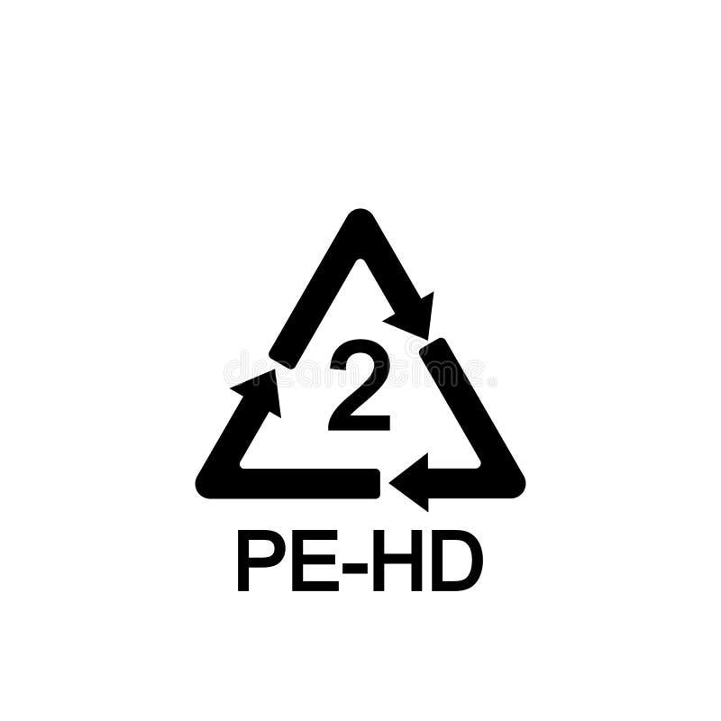 Rekupereerbaar Plastiek polyethyleen Vector illustratie Vlak Ontwerp royalty-vrije illustratie
