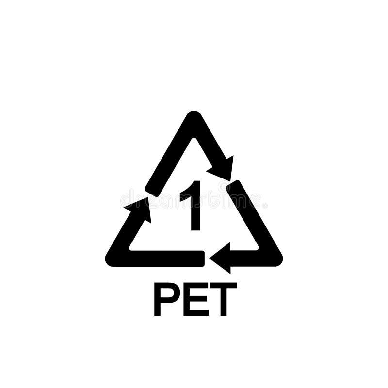 Rekupereerbaar Plastiek Polyethyleenterephthalate Vector illustratie vlak royalty-vrije illustratie