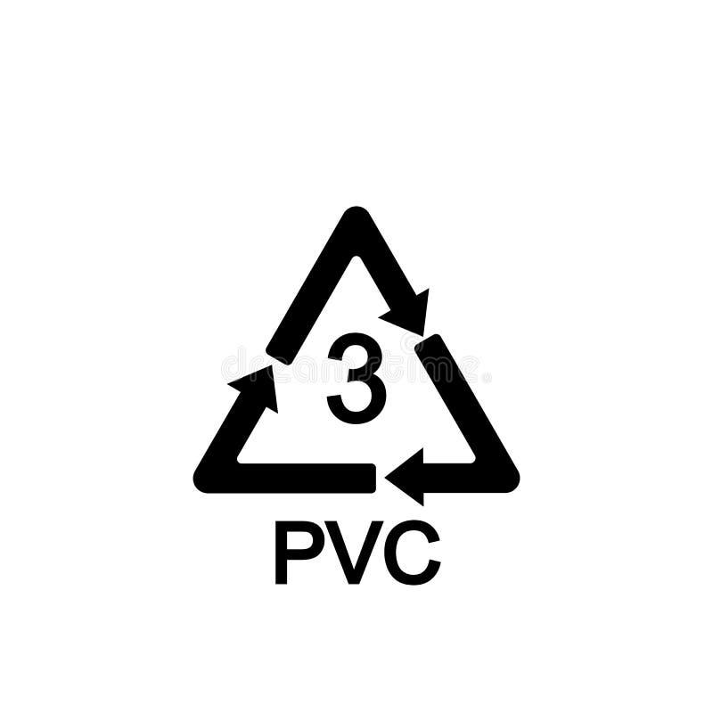 Rekupereerbaar Plastiek Polyvinylchloride Vector illustratie vlak stock illustratie