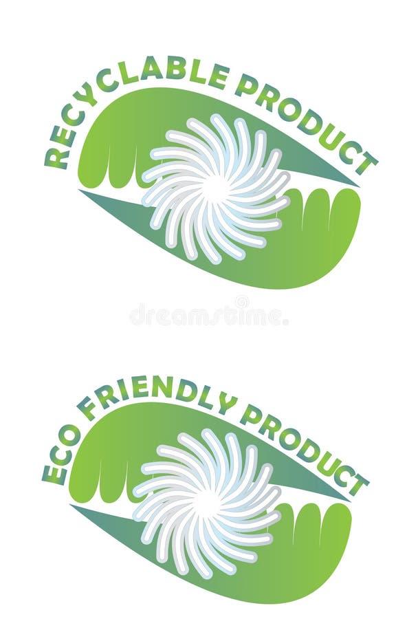 Rekupereerbaar product vector illustratie