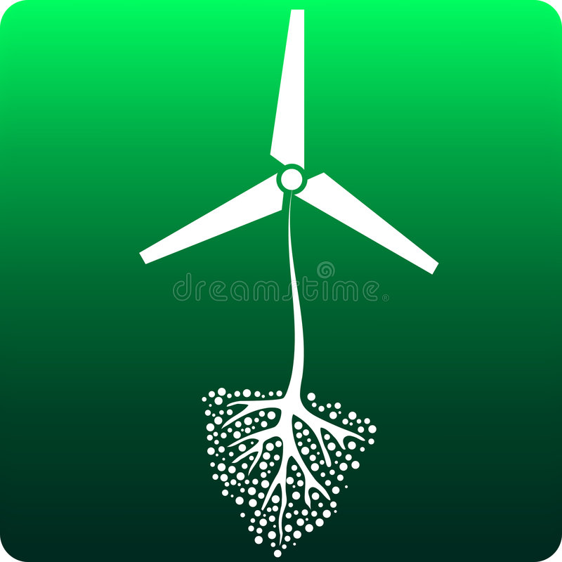 Rekupereerbare energie stock illustratie