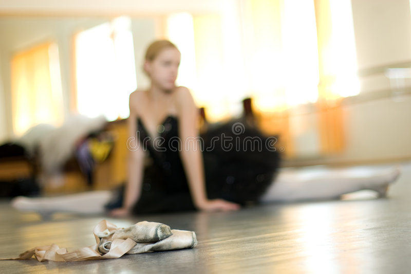 Relájese de bailarina foto de archivo