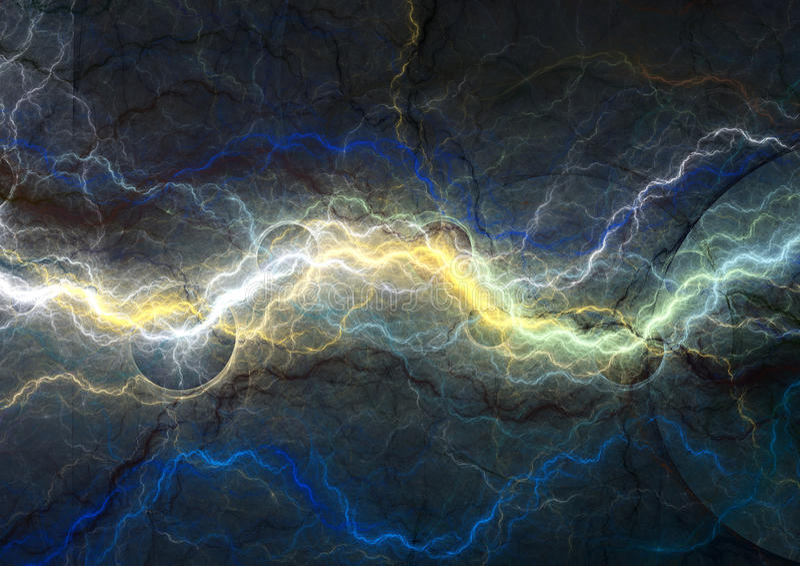 Relámpago azul de la fantasía stock de ilustración
