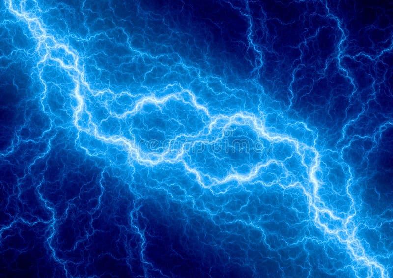 Relámpago azul de la fantasía ilustración del vector