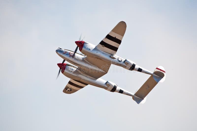 Relámpago de la vendimia P-38 fotos de archivo
