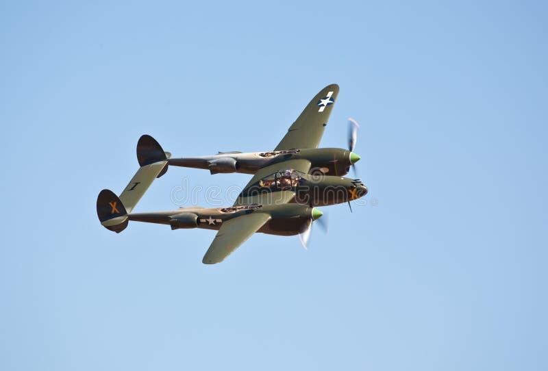 Relámpago de la vendimia P-38 fotografía de archivo