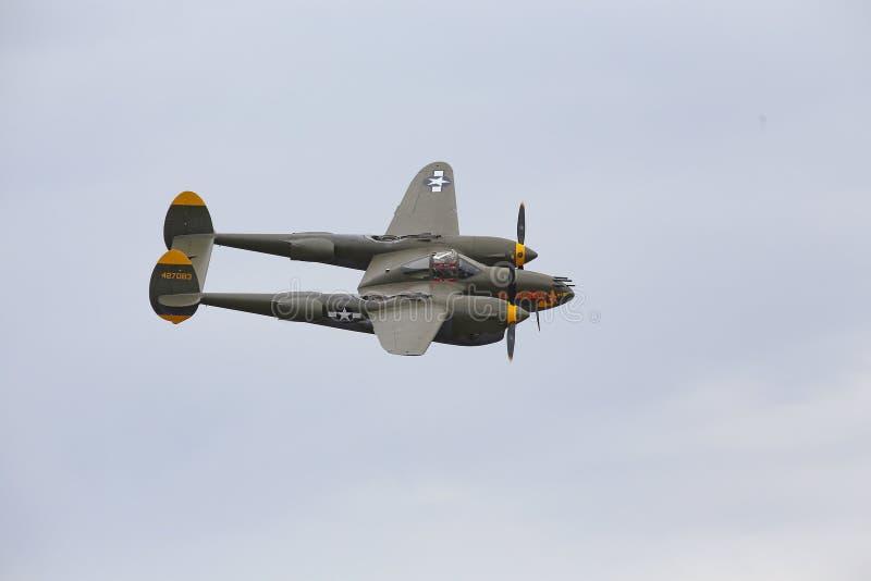 Relámpago P-38 imagen de archivo libre de regalías