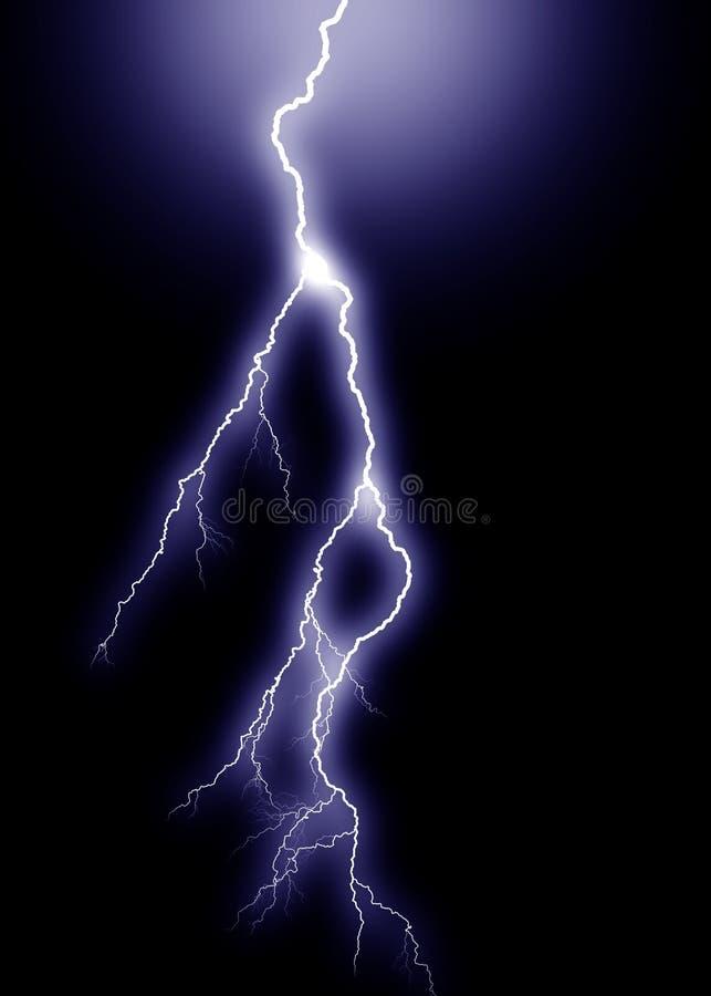 Relâmpago azul, vertical ilustração do vetor