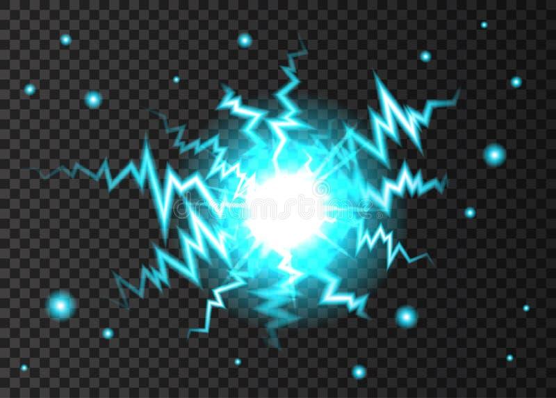 Relâmpago da bola ou explosão da eletricidade fotografia de stock