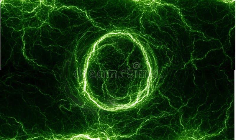 Relâmpago estrangeiro verde ilustração do vetor