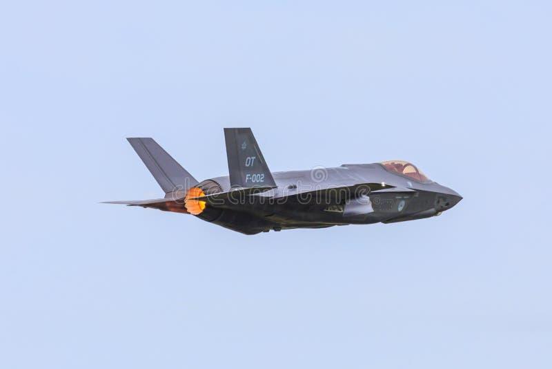 Relâmpago II de Lockheed Martin F-35, dispositivo de pós-combustão fotografia de stock royalty free