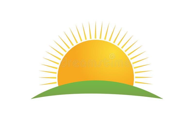 Relèvement du soleil dans des couleurs de gradient illustration stock
