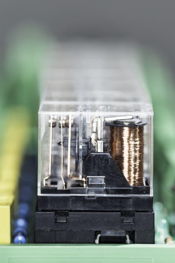 Relés eletromagnéticos imagem de stock