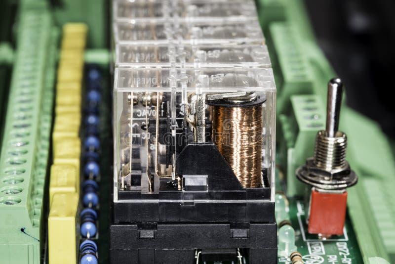 Relés eletromagnéticos fotografia de stock