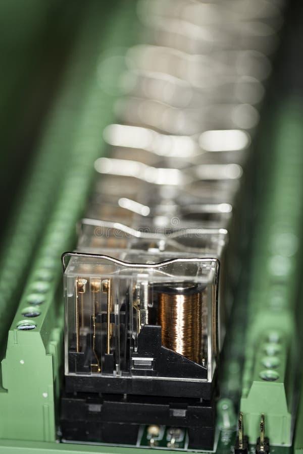 Relés eletromagnéticos - DOF pequeno imagem de stock royalty free