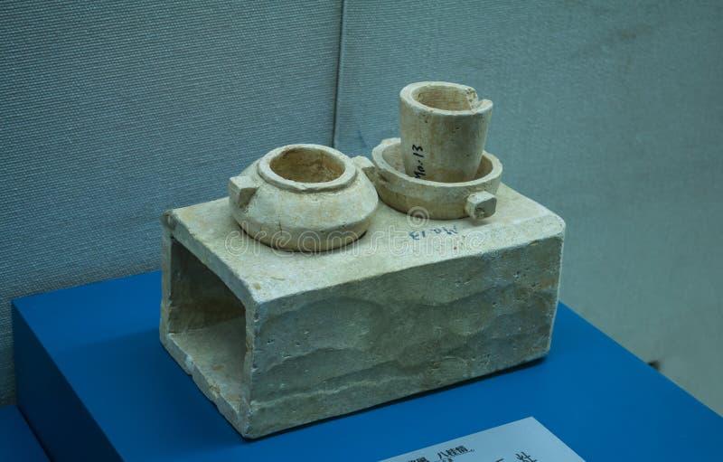 Relíquias culturais - fogões do talco foto de stock