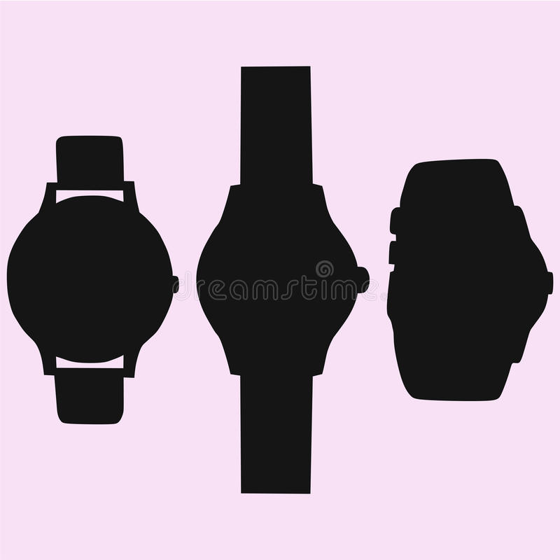 Relógio ajustado ilustração royalty free