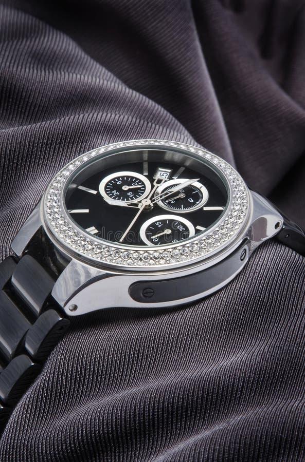 Relógio com diamantes foto de stock royalty free